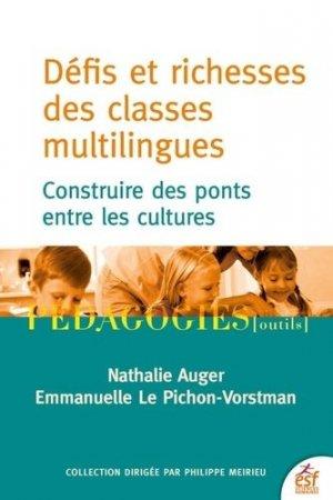 Défis et richesses des classes multilingues - ESF Editeur - 9782710142508 -