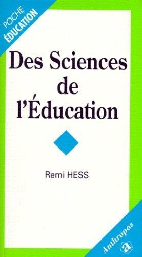 Des sciences de l'éducation - Economica - 9782717834215 -