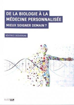 De la biologie à la médecine personnalisée - rue d'ulm - 9782728806300 -