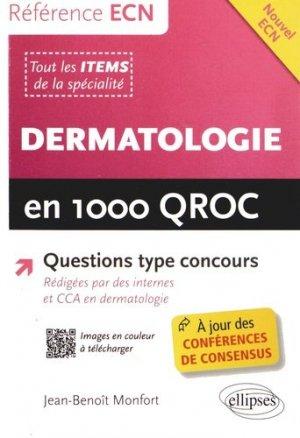 Dermatologie en 1000 QROC - ellipses - 9782729884185 -