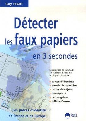 Détecter les faux papiers en 3 secondes - eska - 9782747210249 -