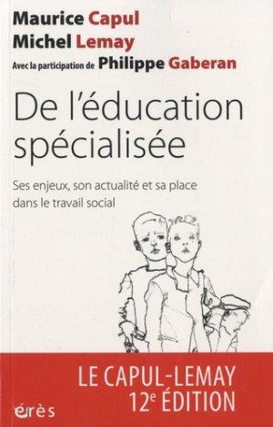De l'éducation spécialisée - erès - 9782749264295 -