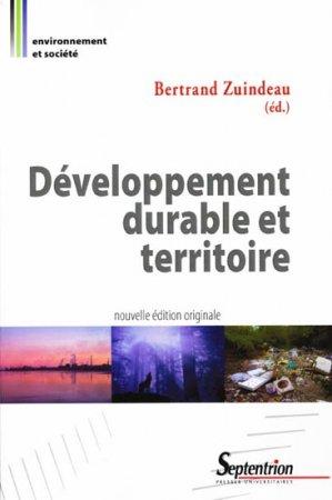 Développement durable et territoire - presses universitaires du septentrion - 9782757401576 -