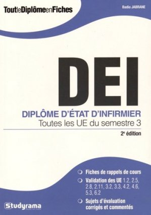 DEI Diplôme d'Etat d'infirmier - studyrama - 9782759026678 -