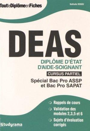 DEAS - Diplôme d'État d'aide-soignant - Cursus partiel - studyrama - 9782759026692 -