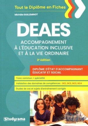 DEAES : accompagnement à l'éducation inclusive et à la vie ordinaire : diplôme d'Etat d'accompagnant éducatif et social - studyrama - 9782759038022 -