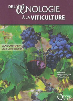 De l'oenologie à la viticulture - quae - 9782759225859 -