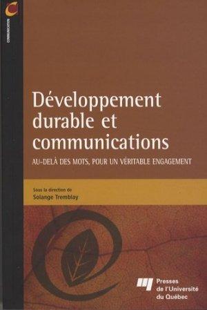 Développement durable et communications - presses de l'universite du quebec - 9782760514690 -