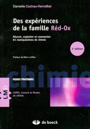 Des expériences de la famille Réd-Ox - de boeck superieur - 9782804163334 -