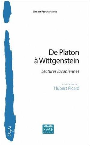 De Platon à Wittgenstein - eme - 9782806635969 -