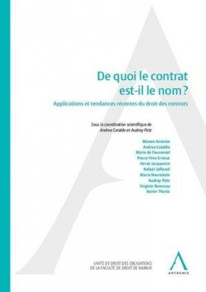 De quoi le contrat est-il le nom ? Applications et tendances récentes du droit des contrats - Anthemis - 9782807203358 - https://fr.calameo.com/read/005884018512581343cc0