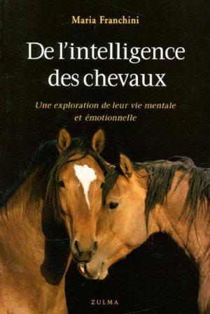 De l'intelligence des chevaux - zulma - 9782843044953 -