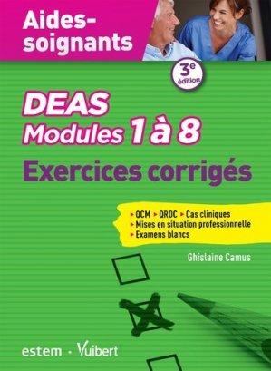 DEAS - Modules 1 à 8 - Exercices corrigés - estem / vuibert - 9782843719257 -