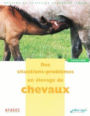 Des situations-problèmes en élevage du cheval - educagri - 9782844441348 -