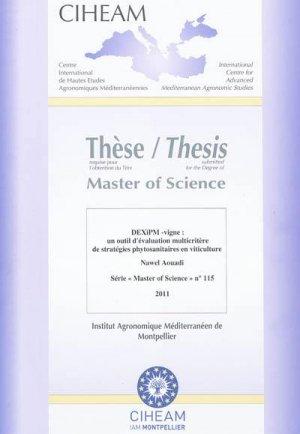DEXiPM-vigne : un outil d'évaluation multicritères de stratégies phytosanitaires en viticulture - ciheam - 9782853524766 -
