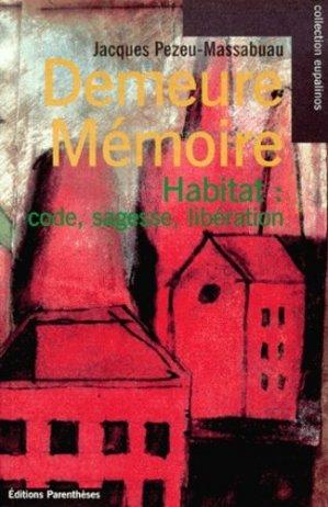 Demeure mémoire - parentheses - 9782863646076 -