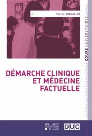 Démarche clinique et médecine factuelle - presses universitaires de louvain - 9782875583741 -