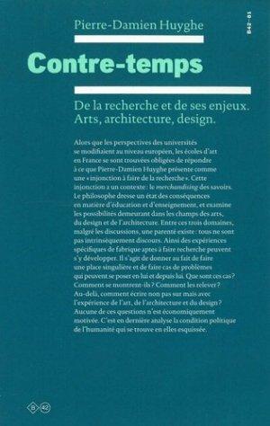 De la recherche et de ses enjeux. Arts, architecture, design. - b42 - 9782917855812 - majbook ème édition, majbook 1ère édition, livre ecn major, livre ecn, fiche ecn