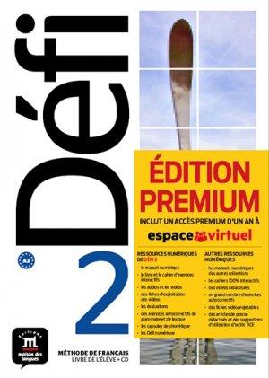 Défi 2 : méthode de français, livre de l'élève + CD : A2 - premium  - 9788417249700 -