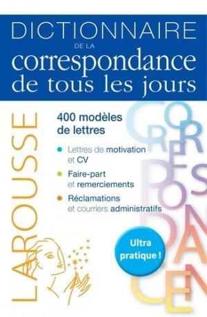 Dictionnaire de la correspondance de tous les jours - Larousse - 9782035903877 -