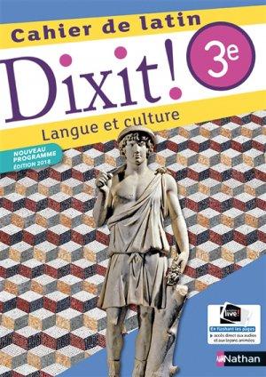 Dixit ! Manuel de latin Cycle 4 - nathan - 9782091717029 -