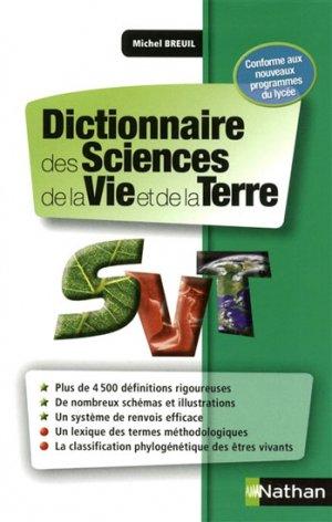 Dictionnaire des Sciences de la Vie et de la Terre - nathan - 9782091836089 -