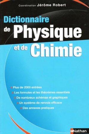 Dictionnaire de physique et de chimie - nathan - 9782091845463 -