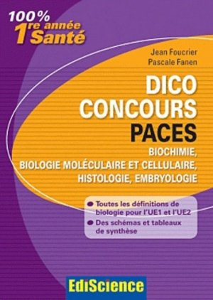 Dico Concours PACES - édiscience - 9782100550500 -