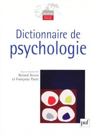 Dictionnaire de Psychologie - puf - 9782130560258 -