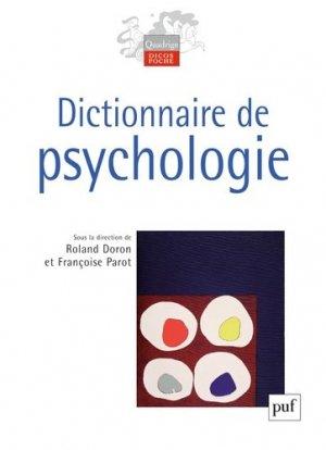 Dictionnaire de psychologie - puf - presses universitaires de france - 9782130587538 -