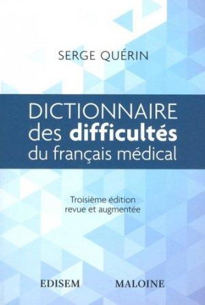 Dictionnaire des difficultés du français médical - maloine - 9782224035136 -