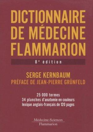 Dictionnaire de médecine Flammarion - lavoisier msp - 9782257000323 -