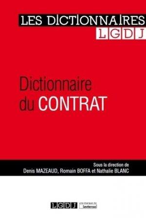 Dictionnaire du contrat - LGDJ - 9782275057521 -