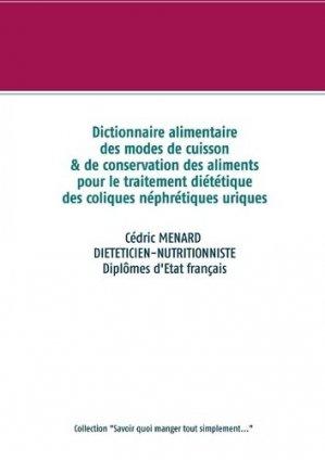 Dictionnaire des modes de cuisson et de conservation des aliments pour le traite - Books on Demand Editions - 9782322233656 -