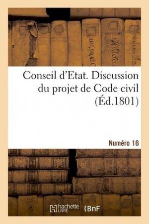 Discussion du projet de Code civil. N° 16 - Hachette/BnF - 9782329411736 -