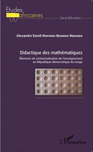 Didactique des mathématiques - l'harmattan - 9782343061238 -