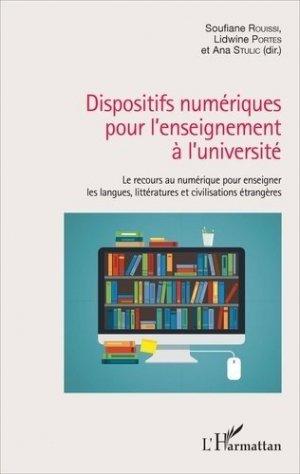 Dispositifs numériques pour l'enseignement à l'université - l'harmattan - 9782343112534 -