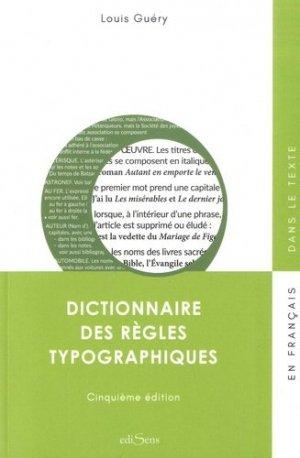 Dictionnaire des règles typographiques - victoires - 9782351133576 -