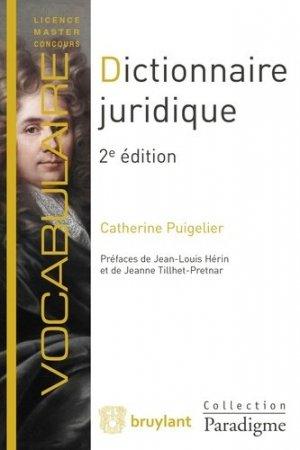 Dictionnaire juridique. 2e édition - Bruylant - 9782390131144 -
