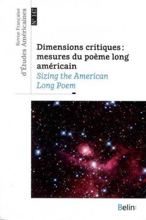 Dimensions critiques : mesures du poème long américain - Belin - 9782701198750 -