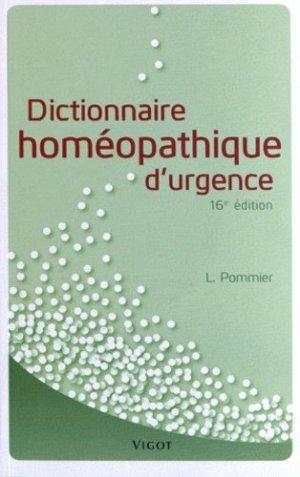 Dictionnaire homéopathique d'urgence - vigot - 9782711422142 -