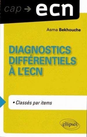Diagnostiques différentiels à l'ECN - ellipses - 9782729875329 -