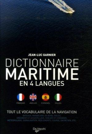 Dictionnaire maritime en 4 langues. Tout le vocabulaire de la navigation - De Vecchi - 9782732887951 -