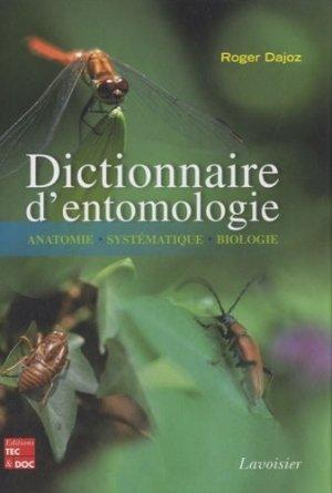 Dictionnaire d'entomologie - lavoisier / tec et doc - 9782743012304 -