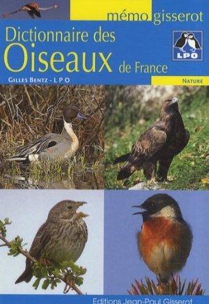 Dictionnaire des oiseaux de France - gisserot - 9782755800586 -