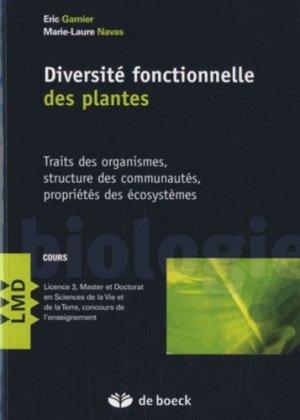 Diversité fonctionnelle des plantes - de boeck superieur - 9782804175627 -