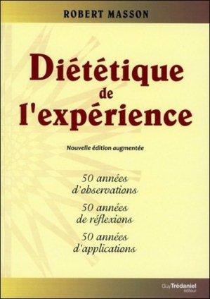 Diététique de l'expérience - guy tredaniel editions - 9782813206848 -