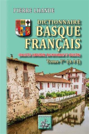 Dictionnaire basque-francais - des regionalismes - 9782824009223
