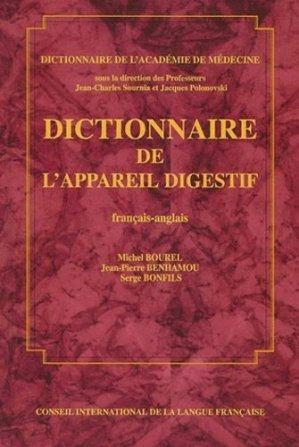 Dictionnaire de l'appareil digestif français-anglais - cilf - 9782853192927 -