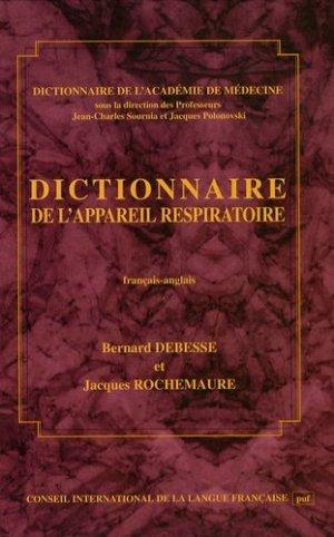Dictionnaire de l'appareil respiratoire Français-Anglais - cilf - 9782853193009 -